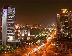 Dubai City bei Nacht